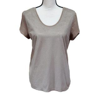 ZARA W&B COLLECTION Tan Faux Suede Top